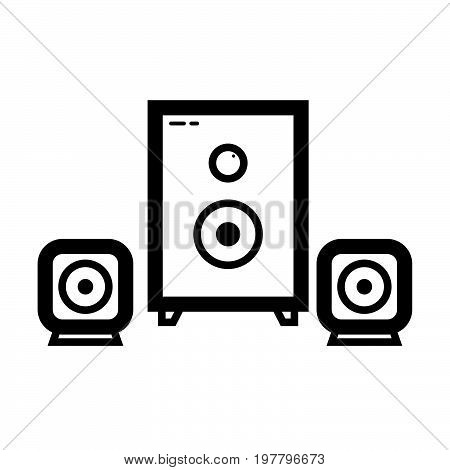 Simple thin line sound system icon vector