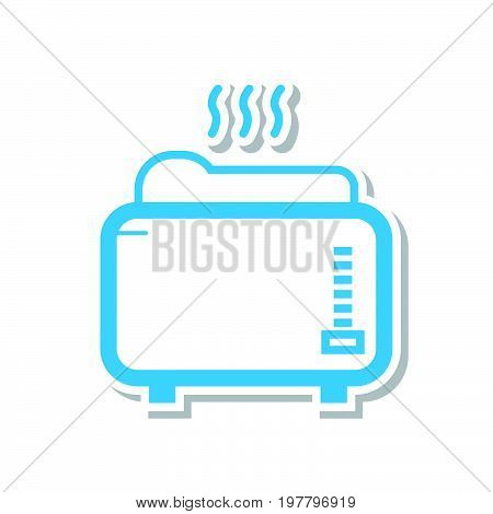 Simple thin line toaster machine icon vector