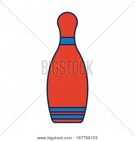 bowling pin tool sport object game vector illustration