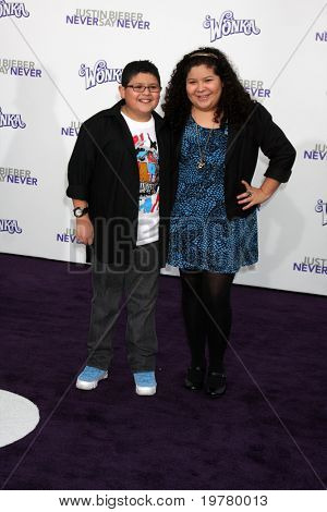 LOS ANGELES - FEB 8:  Rico Rodriguez, Raini Rodriguez arrives at the