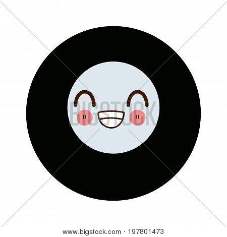 kawaii billiard ball number eight sports vector illustration