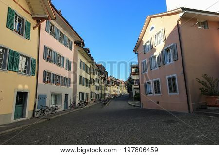 Streets And Buildings From  Aarau, Switzerland