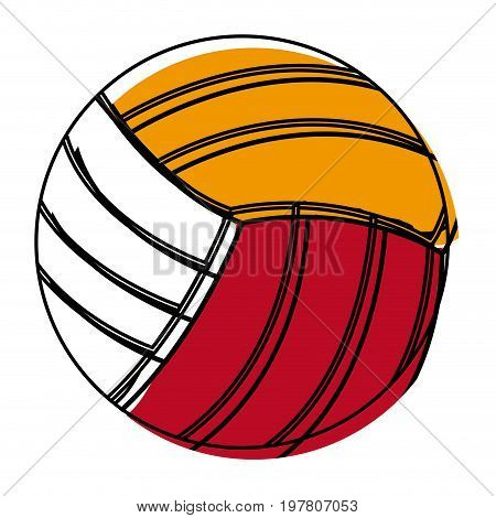 volleyball ball sports activity play competition tournament vector illustration