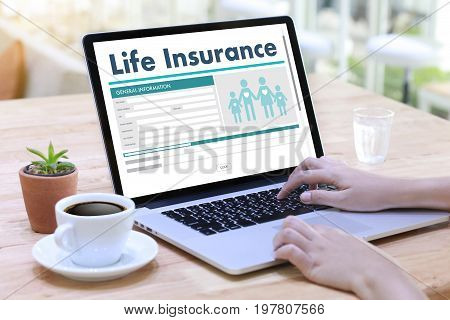 Life Insurance Medical Concept Health Protection Home House Car Life