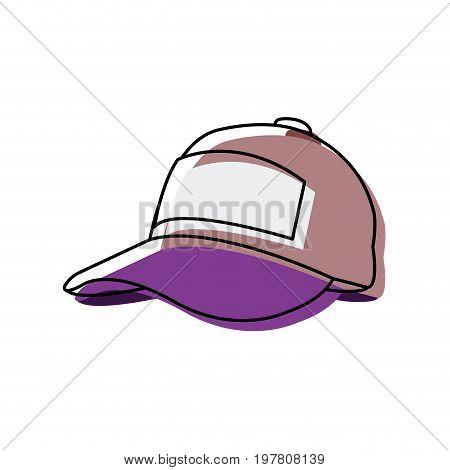 sport cap accessory protection fashion icon vector illustration
