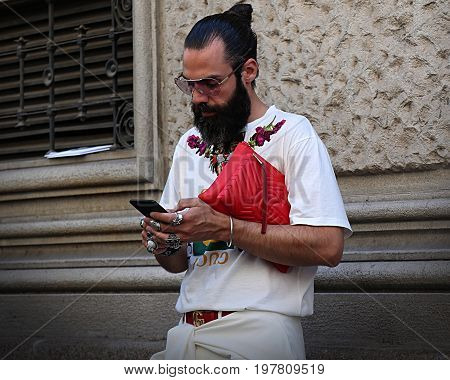 MILAN- 18 June 2017 Graziano Di Cintio on the street during the Milan Fashion Week