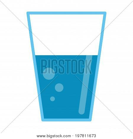 glass cup with water icon image vector illustration design