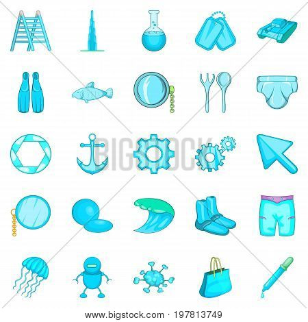 Ship things icons set. Cartoon set of 25 ship things vector icons for web isolated on white background