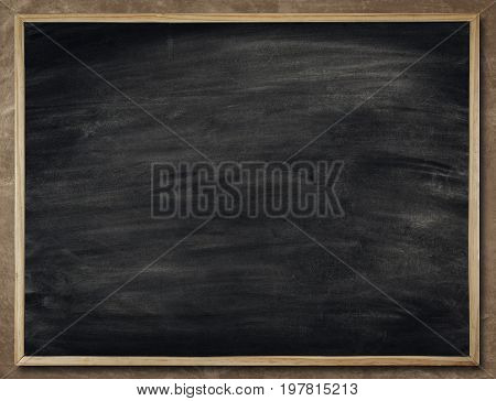 Blackboard Background in Wood Frame Blank Chalkboard Wall School Black Board Texture