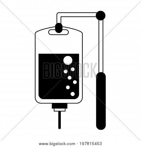 iv bag  icon image vector illustration design  black and white