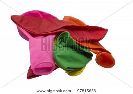 Deflated Rubber Balloons