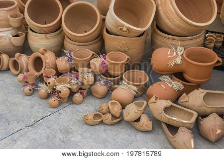 Different Clay Pots