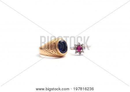 Image of Wedding ring isolated on white background