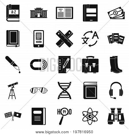 Ability icons set. Simple set of 25 ability vector icons for web isolated on white background