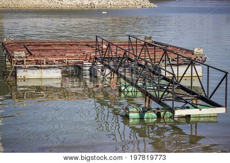 Metal Construction For Houseboat