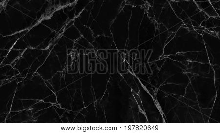 Luxury of black marble texture and background for decorative design pattern artwork.