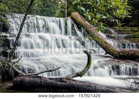 Liffey Falls In The Midlands Region, Tasmania
