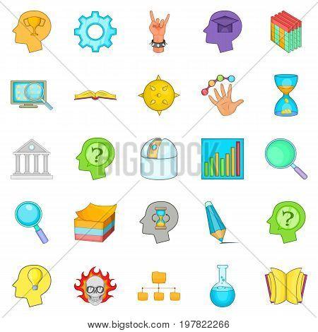 Brilliant idea icons set. Cartoon set of 25 brilliant idea vector icons for web isolated on white background