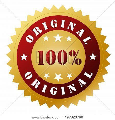 Original Badge Concept  3D Illustration