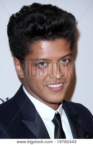 LOS ANGELES - FEB 12:  Bruno Mars arrives at the 2011 Pre-GRAMMY Gala And Salute To Industry Icons  at Beverly Hilton Hotel on February 12, 2011 in Beverly Hills, CA