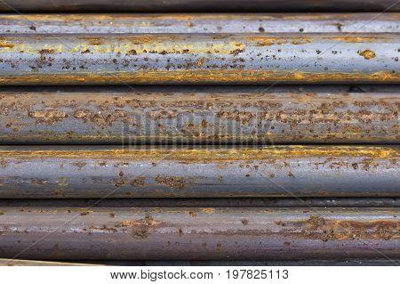 Close Of Rusty Iron Rods 4
