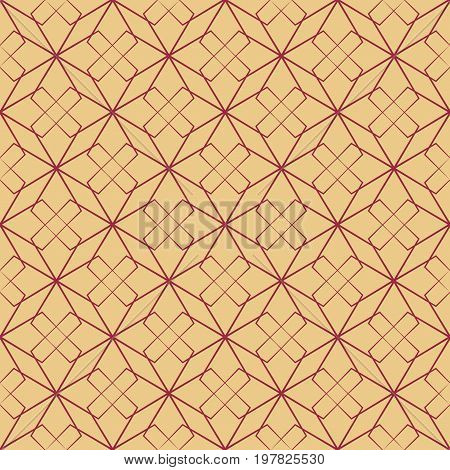 Abstract beige texture of rhombus fashion graphic background design. Modern stylish texture. Design colorful template for prints textiles wrapping wallpaper website etc. Vector illustration