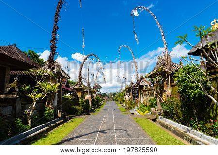 Penglipuran Traditional Village In Bali, Indonesia