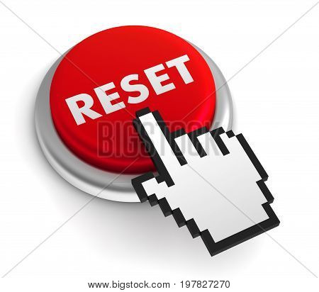 Reset Keyboard Isolated 3D Illustration