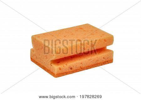 Orange Scrubbing Sponge