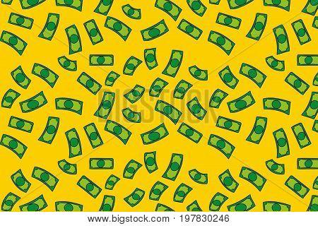 Concept of Green Money rain patten design