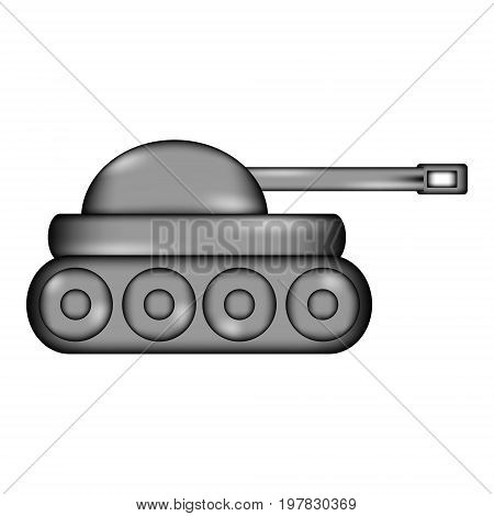 Panzer sign icon on white background. Vector illustration.
