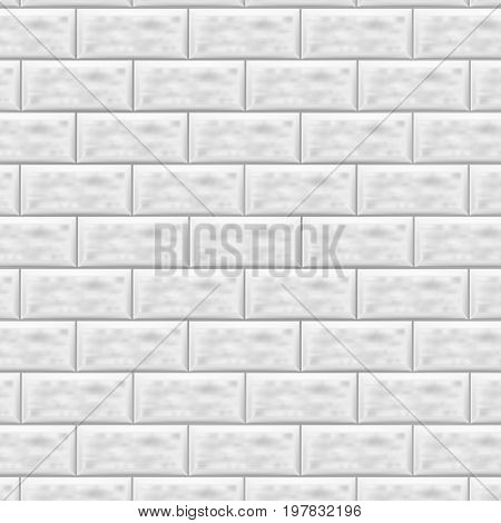 Stone lined with granite. Stone background wall. Facing Stone. White brick wall in subway tile pattern. Vector illustration. Eps 10.