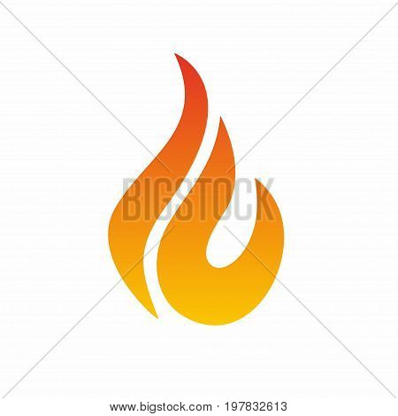 Flame logo fire icon. Fire flame logo design template. Vector