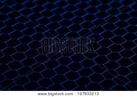 Black iron grid texture. Industrial background close up.
