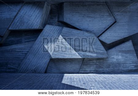 Abstract geometric background of the concrete. urban background.