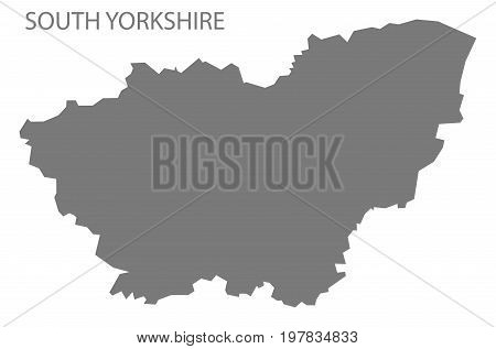South Yorkshire Metropolitan County Map England Uk Grey Illustration Silhouette Shape