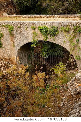 Ancient stone bridge dating back to the roman empire in Beli island of Cres (Croatia)
