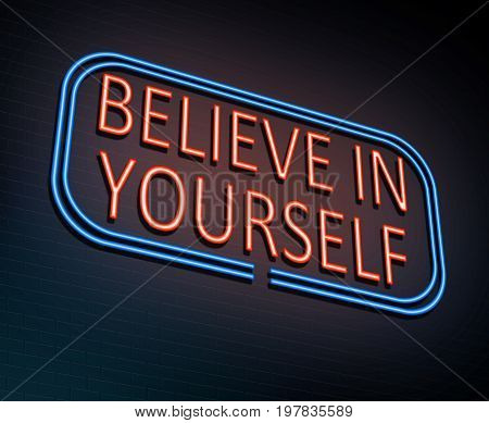 Believe In Yourself Concept.