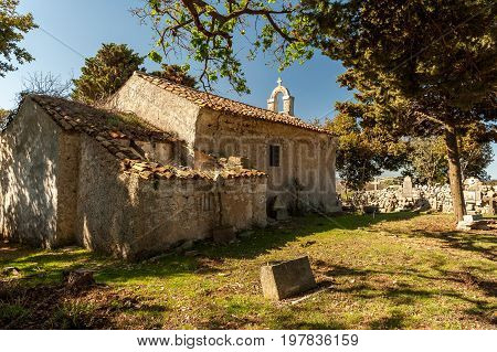 Old Church near Ustrine on the island of Cres (Croatia)