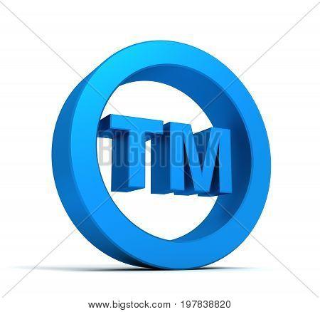 Tm Trade Mark Sign Concept  3D Illustration