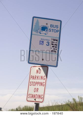 No Standing At Bus Stop