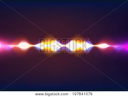 Speaking sound wave. Abstract pulse. Vector illustration. Eps 10