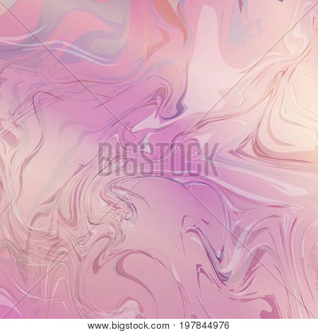 Marble stone texture with a pink watercolor pattern.