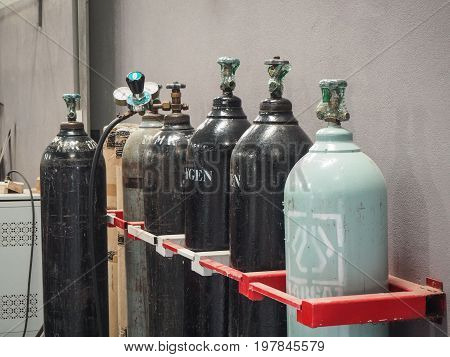 Oxygen Gas Tanks for manufacturing industry use
