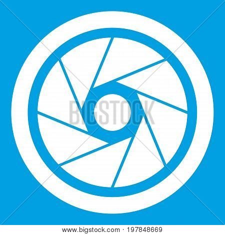 Small objective icon white isolated on blue background vector illustration