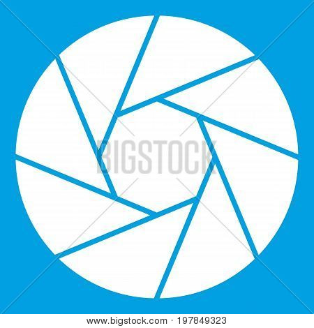 Little objective icon white isolated on blue background vector illustration
