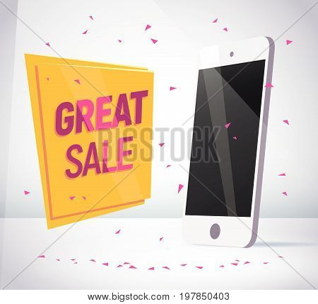 Vector smartphone collection isolated on white background. Gadget portable advertisement flat illustration. Good foe web banner, poster, teaser design.