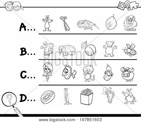 First Letter Of A Word Coloring Page