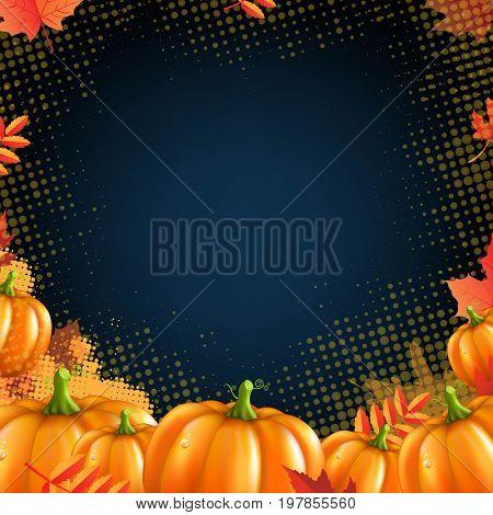 Orange Autumn Pumpkins Frame