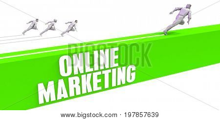 Online Marketing as a Fast Track To Success 3D Illustration Render